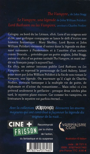 Frissons t.1 ; le vampyre, une légende