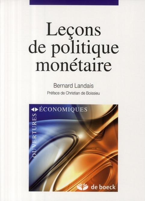 Lecons De Politique Monetaire