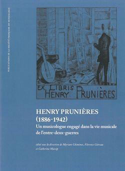 Henry Prunières (1886-1942) ; un musicologue engagé dans la vie musicale de l'entre-deux-guerres
