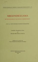 Mrgendragama. Section des rites et section du comportement  - Helene Brunner-Lachaux
