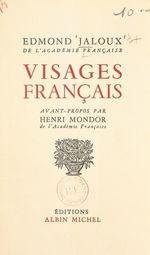 Visages français  - Edmond Jaloux