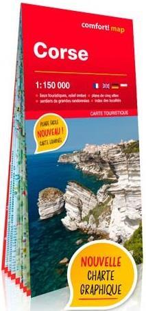 CORSE 1150.000  -  CARTE GRAND FORMAT LAMINEE