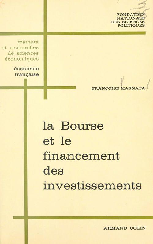 La Bourse et le financement des investissements