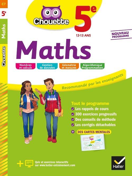 Chouette entraînement T.7 ; maths ; 5e ; cahier d'entraînement et de révision