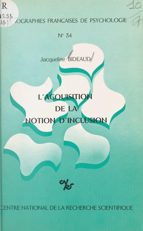 L'acquisition de la notion d'inclusion
