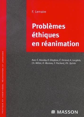 Problemes Ethiques En Reanimation