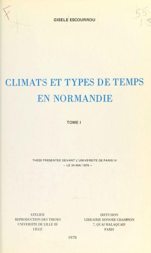 Climats et types de temps en Normandie (1)