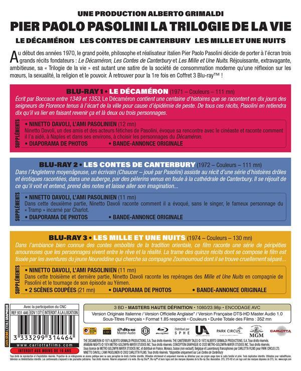 Pier Paolo Pasolini - La Trilogie de la vie : Le Décaméron + Les Contes de Canterbury + Les Mille et une nuits