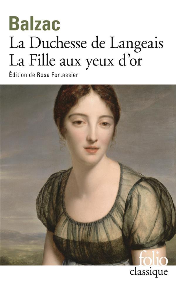 La duchesse de Langeais ; la fille aux yeux d'or
