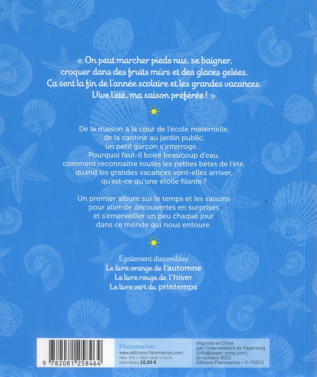 Le livre bleu de l'été