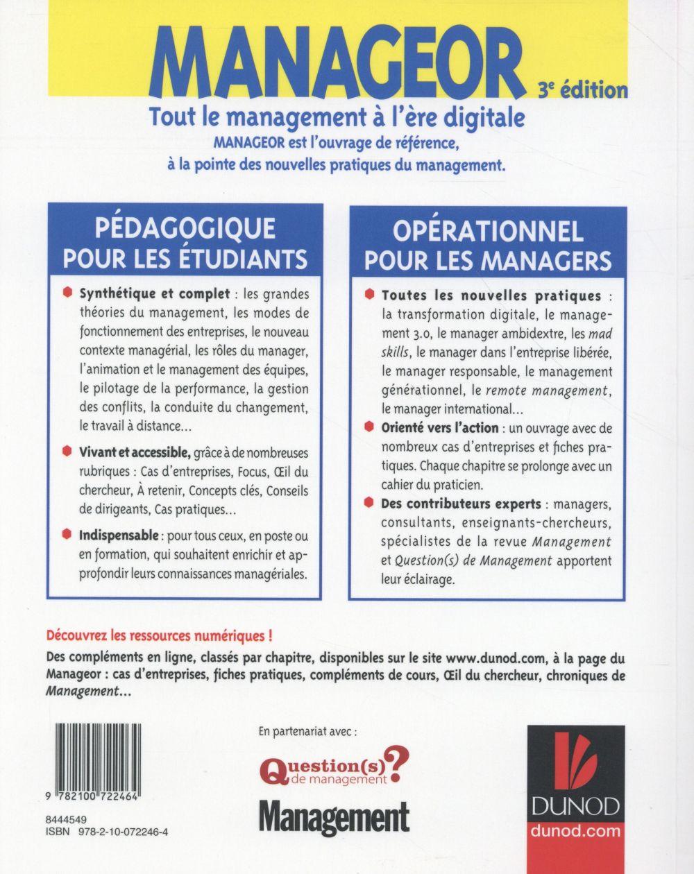 Manageor ; tout le management à l'ère digitale (3e édition)