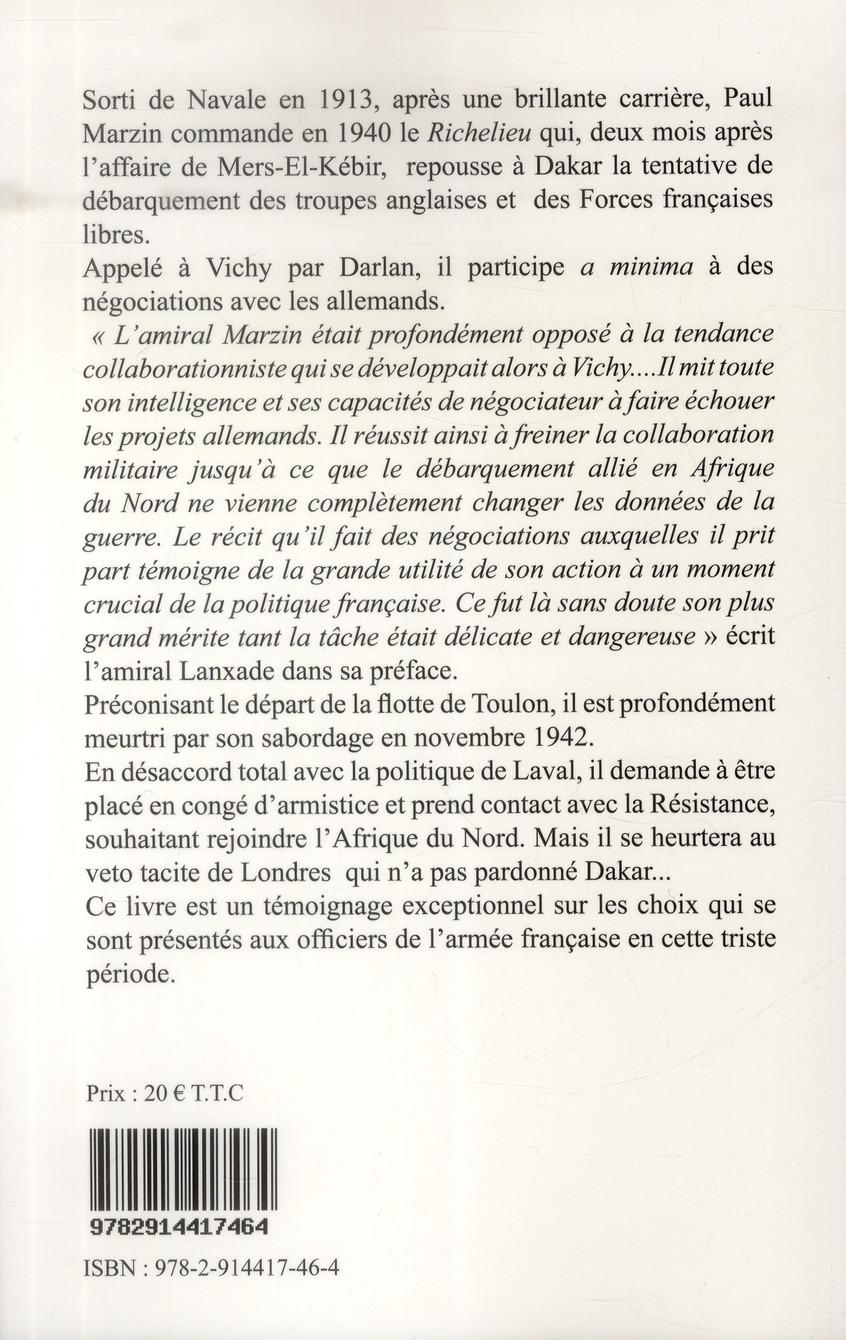 Journal ; obéir ? mers-el-kébir ; Dakar ; Vichy ; Toulon