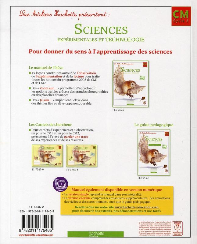 ATELIERS HACHETTE ; sciences et technologies ; CM ; livre de l'élève (édition 2011)