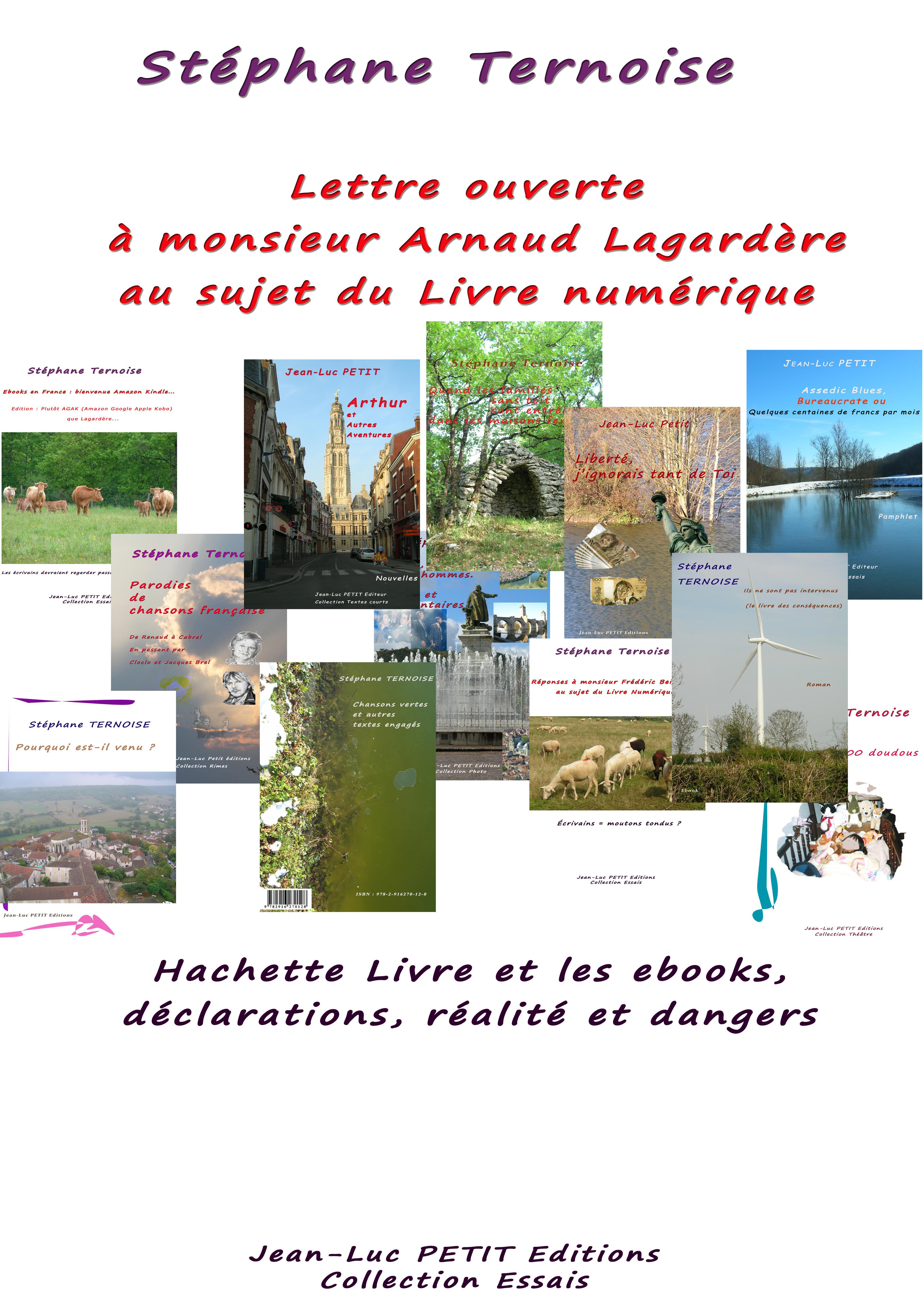 Lettre ouverte à monsieur Arnaud Lagardère au sujet du Livre numérique
