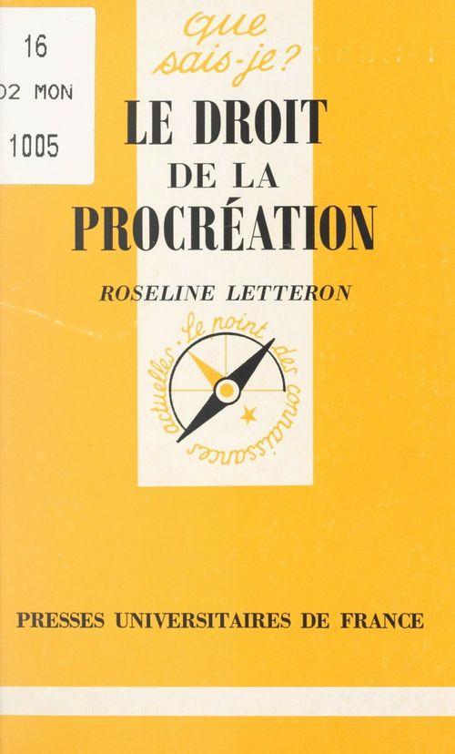 Le droit de la procréation