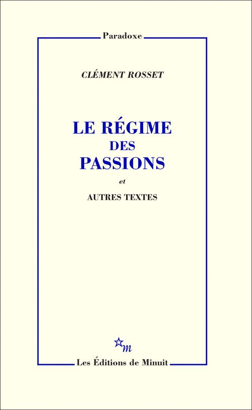 Le régime des passions