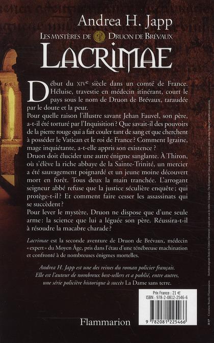 Les mystères de Druon de Brevaux t.2 ; lacrimae