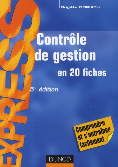 Controle De Gestion ; En 20 Fiches (5e Edition)