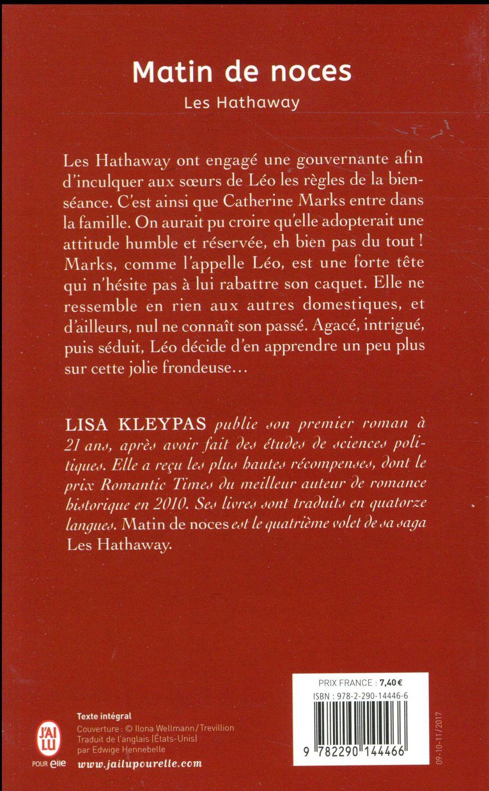 Les Hathaway T.4 ; matin de noces