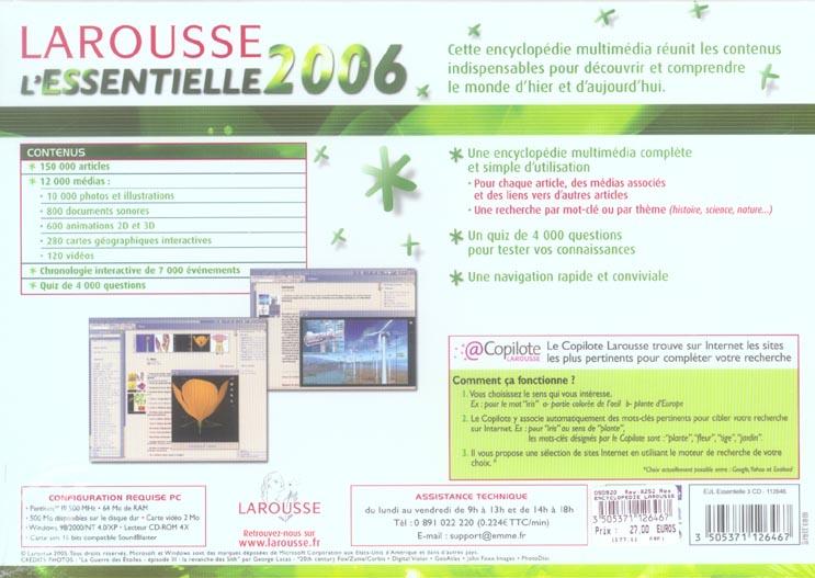 Encyclopedie larousse essentielle 2006