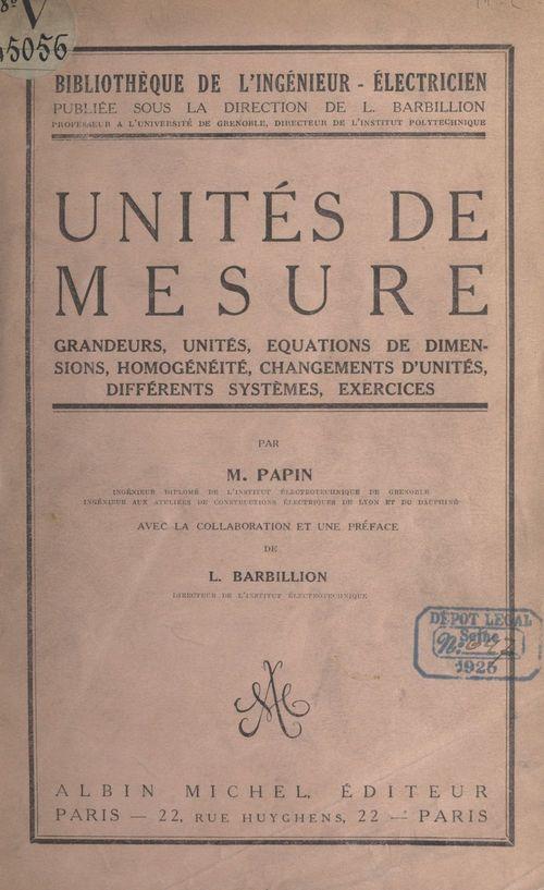 Unités de mesure