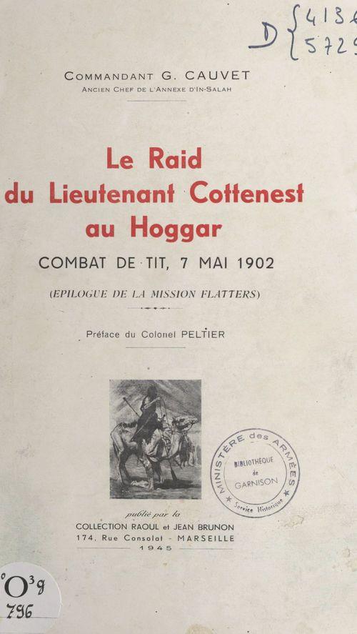 Le raid du lieutenant Cottenest au Hoggar