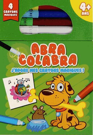 Abra colabra ; j'adore mes crayons magiques ! (chien)