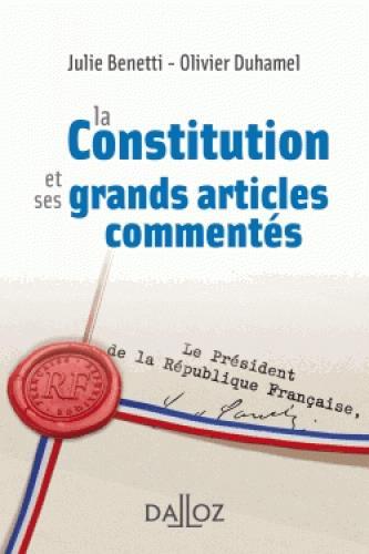 Les grands articles de la constitution française commentés
