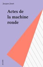 Vente EBooks : Actes de la machine ronde  - Jacques Jouet