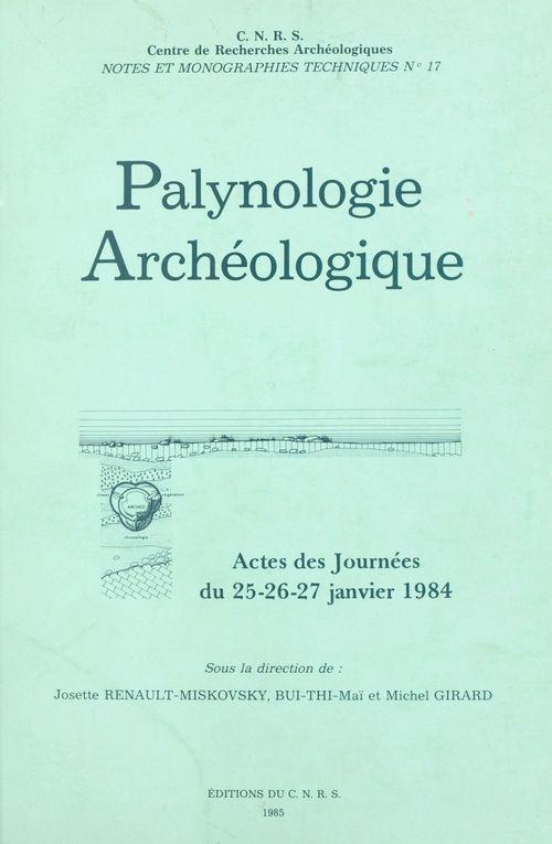 Palynologie archéologique  - Centre de recherches archéologiques