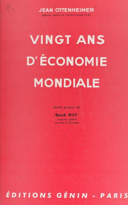 Vingt ans d'économie mondiale
