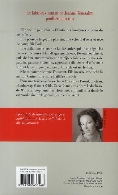 La panthère ; le destin extraordinaire de Jeanne Toussaint