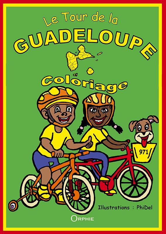 Le tour de la Guadeloupe ; coloriage