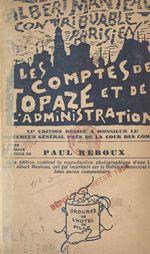 Les comptes de Topaze et de l'administration