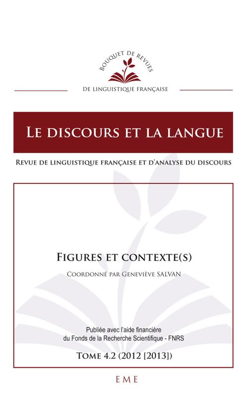 Le discours et la langue