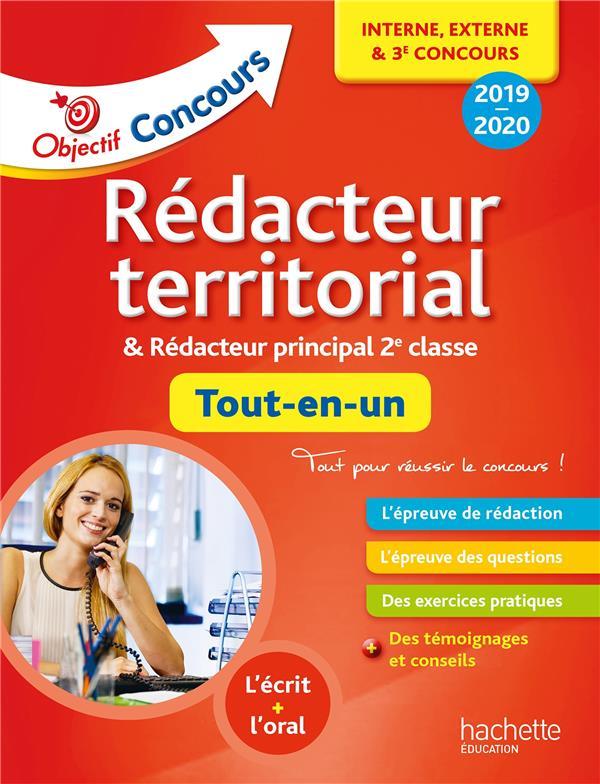 OBJECTIF CONCOURS  -  TOUT-EN-UN REDACTEUR TERRITORIAL, REDACTEUR PRINCIPAL INTERNE + EXTERNE CONCOURS (EDITION 2019) DELHOUME, BERNARD