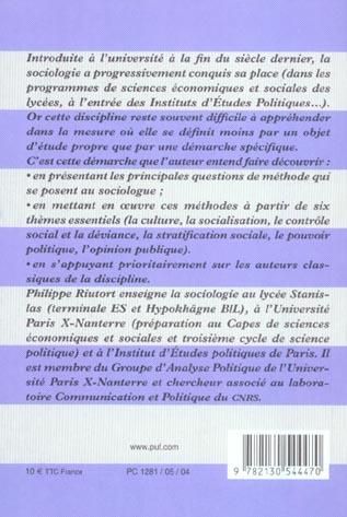 Premieres lecons de sociologie (2e ed) (2e édition)