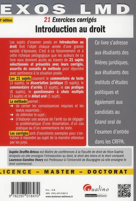 Introduction générale au droit (3e édition)