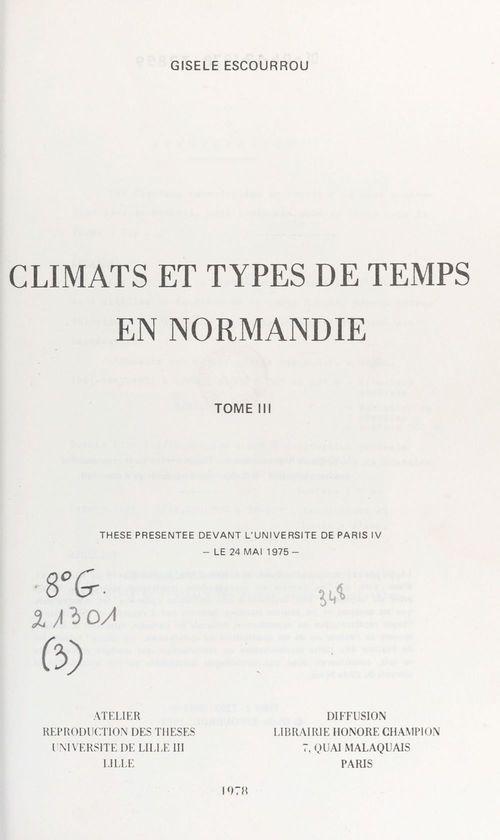 Climats et types de temps en Normandie (3)