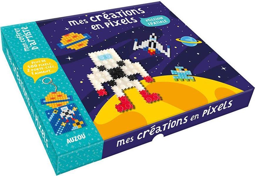 mes créations en pixels ; mission spatiale