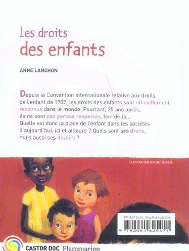 Les droits des enfants - la situation aujourd'hui / droits et devoirs / les grandes lois
