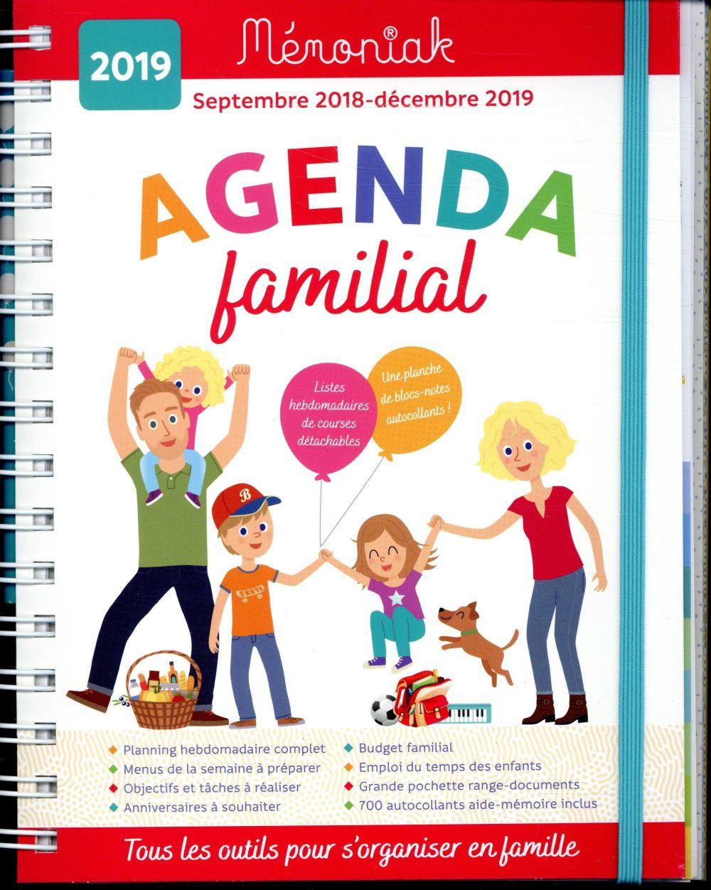 Mémoniak ; agenda familial (édition 2018/2019)