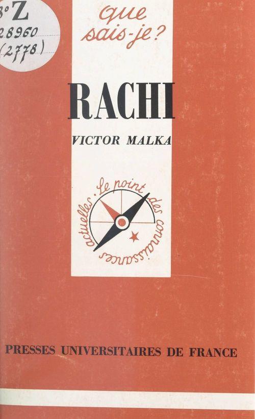 Vente EBooks : Rachi  - Victor Malka