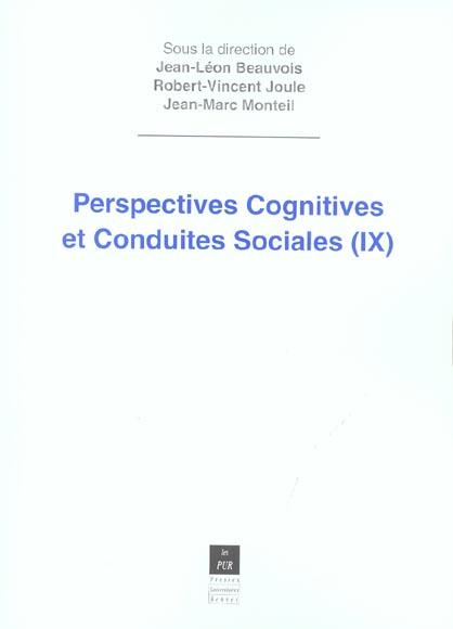 Perspectives cognitives et conduites sociales 9