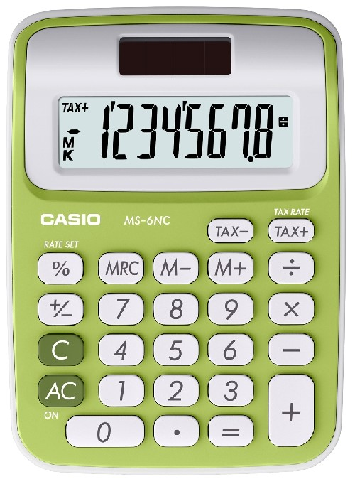 CALCULATRICE MINI BUREAU MS 6NC VERTE