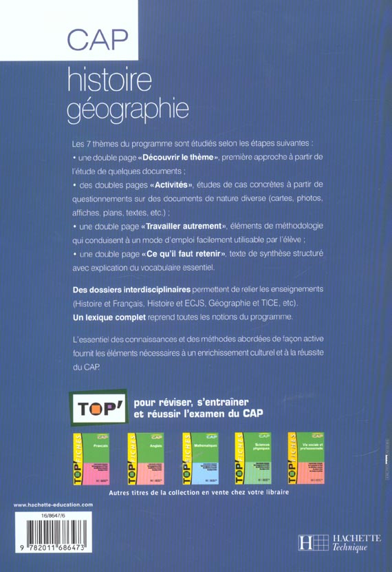 Histoire geographie ; cap