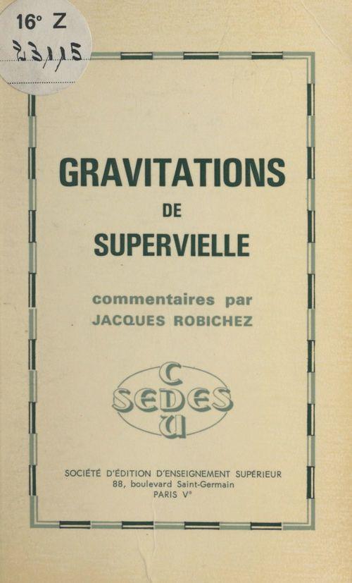 Gravitations, de Supervielle