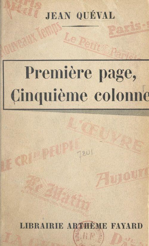 Première page, cinquième colonne