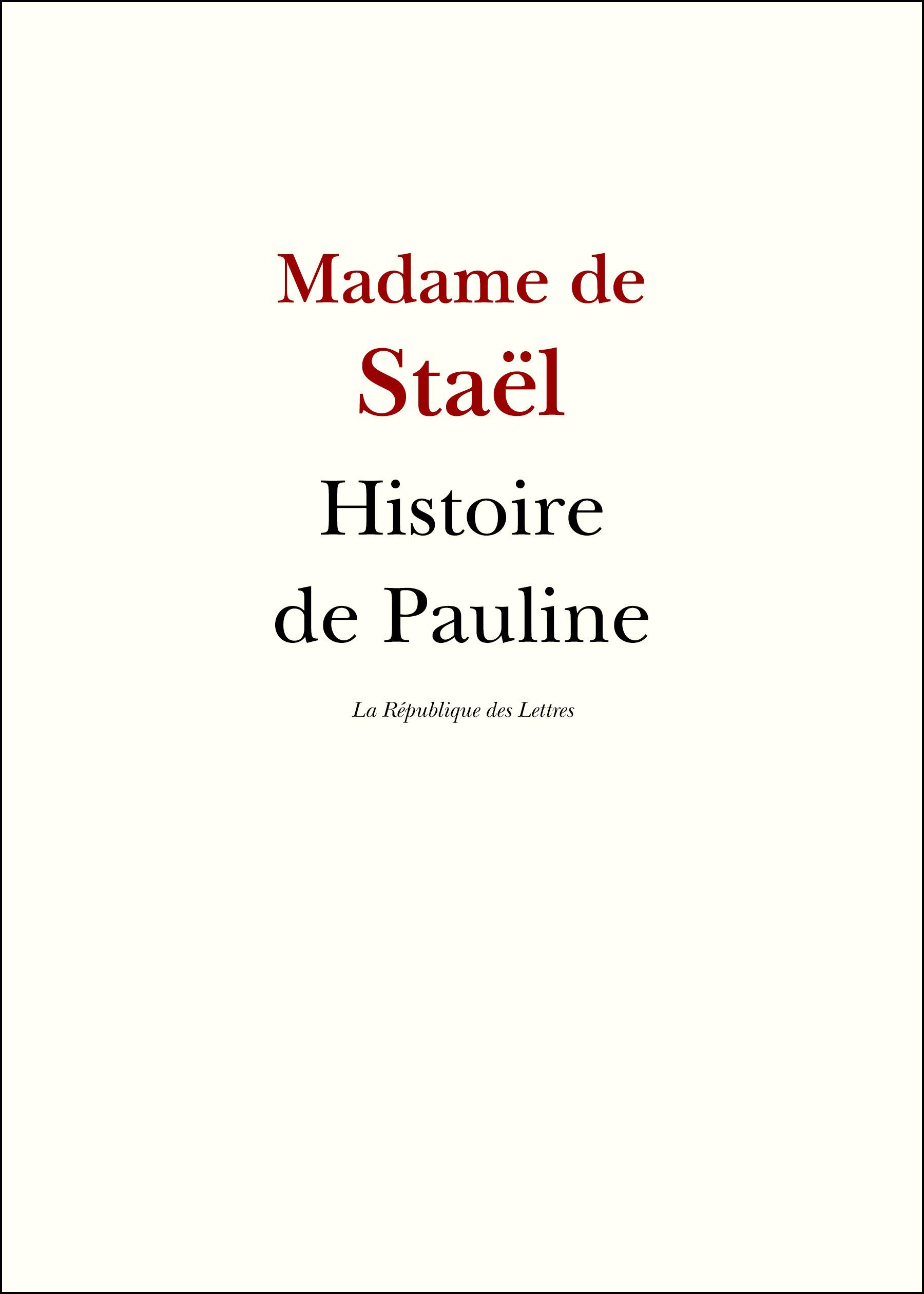 Histoire de Pauline