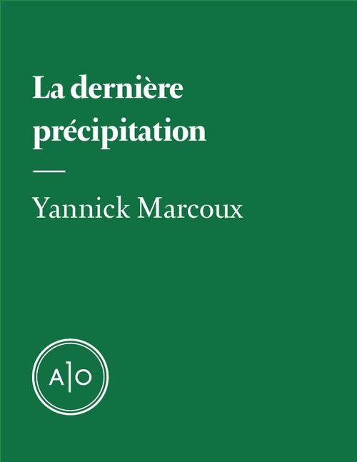 La dernière précipitation  - Yannick Marcoux